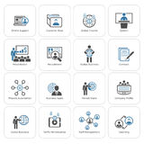 Business and Finances Icons Set. Flat Design. Stock Image