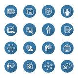 Business and Finances Icons Set. Flat Design. Stock Photos