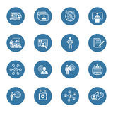Business and Finances Icons Set. Flat Design. Royalty Free Stock Photography