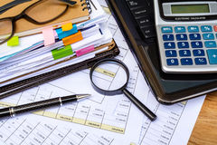 Business financial accounting calculate Stock Images