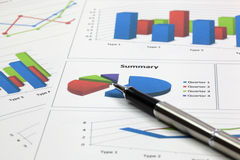 Business of financial analysis Stock Images