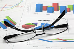 Business of financial analysis Royalty Free Stock Photo