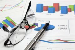 Business of financial analysis. Of workplace Stock Photos