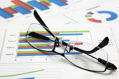 Business of financial analysis. Of workplace Royalty Free Stock Photo