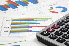 Business of financial analysis. Of workplace Stock Photo