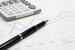 Business of financial analysis. Of workplace Stock Image