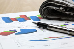 Business of financial analysis. Of workplace Royalty Free Stock Image