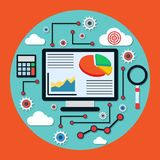 Business and financial analysis concept Royalty Free Stock Photos