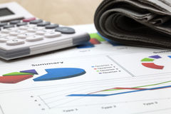 Business of financial analytics. Business of financial analysis of workplace Stock Photos
