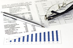 Business financial analyze Stock Photo
