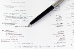 Business financial analyze liabilities Royalty Free Stock Photo