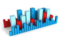 Business financial bar chart graph on white background Stock Image