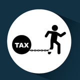 Business financial burden taxes icon Stock Photography