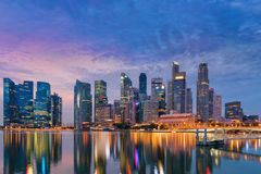 Business and financial center of Singapore, Marina bay, Bayfront. Business and financial center of Singapore., Marina bay, Bayfront Stock Photography