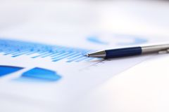 Business financial chart royalty free stock photos