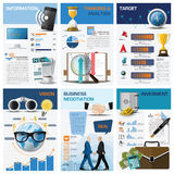 Business And Financial Chart Diagram Infographic. Design Template Royalty Free Stock Photos