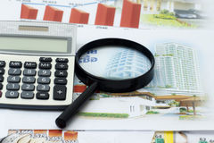 Business financial chart with graphs Stock Photos