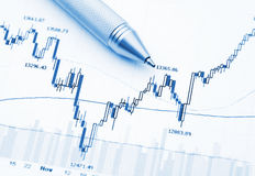 Business financial chart Stock Image