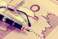 Stock exchange and markets graphic detail. Business and financial concept.Bank accounting and invest background stock image