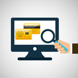 Business financial credit card online icon Royalty Free Stock Photo
