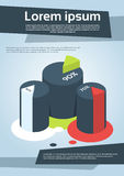 Business Financial Cylinder Chart Diagram Flyer. Cover Design Page Template Vector Illustration Royalty Free Stock Images