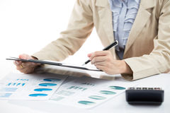 Business financial data analyzing Royalty Free Stock Images