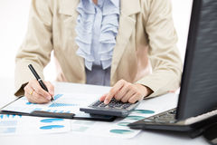 Business financial data analyzing Stock Photo