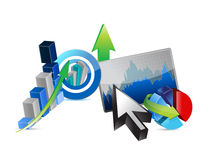 Business financial economy concept Royalty Free Stock Photo