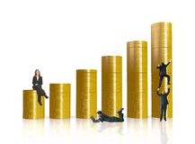 Business financial environment - coin graph Stock Images