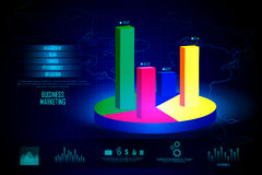 Business Financial Graph Chart Diagram. Easy to edit vector illustration of Business Financial Graph Chart Diagram technology background Royalty Free Stock Images