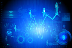 Business Financial Graph Chart Diagram Stock Photos