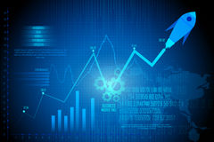 Business Financial Graph Chart Diagram Stock Images