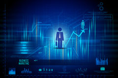 Business Financial Graph Chart Diagram Royalty Free Stock Photo