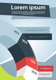 Business Financial Graph Flyer Design Page. Template Vector Illustration Royalty Free Stock Images