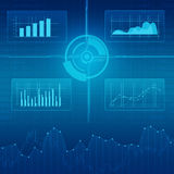 Business financial graph and investment report background Royalty Free Stock Image