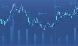 Business financial graph report background Royalty Free Stock Image
