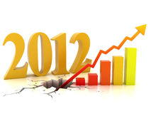 Business or financial growth in 2012. 3d concept Stock Images