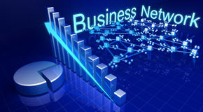 Business financial growth and network concept Stock Photography