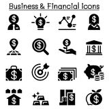 Business & Financial icon set. Business Royalty Free Stock Photos