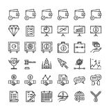 36 Business and financial icon set. Business and financial icon set. Flat line icons style Royalty Free Stock Photos