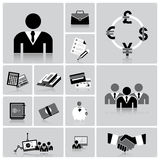 Business And Financial Icon Set. Design Template Royalty Free Stock Image