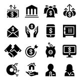 Business & Financial icon set. Graphic design Vector illustration Royalty Free Stock Image