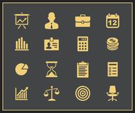 Business and financial icon set Royalty Free Stock Photography
