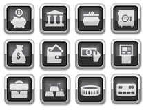 Business financial icons Royalty Free Stock Image