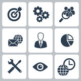 Business and financial icons set Stock Photo