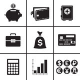 Business and financial icons set. Illustration Stock Photography