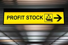 Business financial investment concept :stock money profit yellow Stock Images