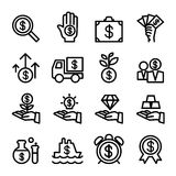 Business Financial Investment icon set. Vector illustration Royalty Free Stock Photos