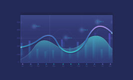 Business financial line graph background Stock Images
