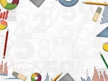 Business financial numbers background frame illustration Stock Photography